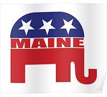 Maine Republican Elephant Poster