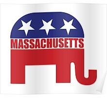 Massachusetts Republican Elephant Poster