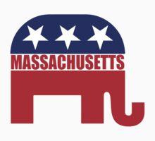 Massachusetts Republican Elephant T-Shirt