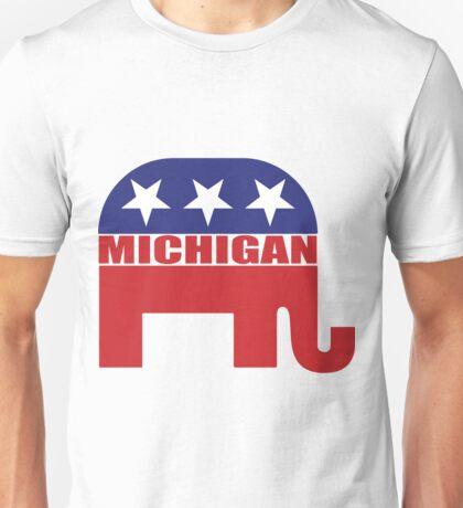 Michigan Republican Elephant Unisex T-Shirt