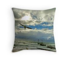 """Windy Flight"" Throw Pillow"