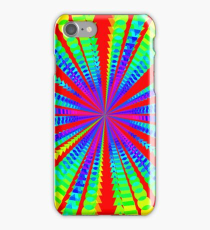 Abstract Psychedelic Radial Pattern iPhone Case/Skin