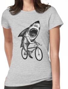 Shark Ride Bicycle  Womens Fitted T-Shirt