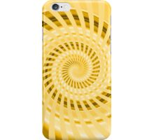 Abstract Yellow Spiral iPhone Case/Skin