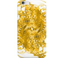 Abstract Yellow Spiral Pattern iPhone Case/Skin