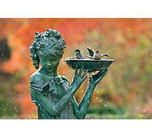 Autumn Bath Photographic Print