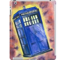 Tardis in flight inspired by Who? iPad Case/Skin