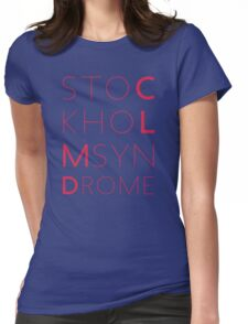 CLMD - The Stockholm Syndrome Coral Typography Womens Fitted T-Shirt