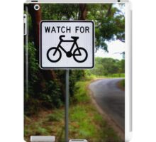 Watch for Bikes Sign iPad Case/Skin