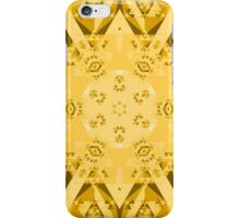 Abstract Yellow Kaleidoscope  iPhone Case/Skin