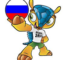 World cup mascot love russia by miky90