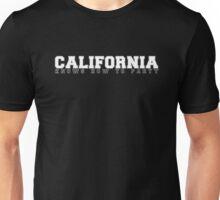 Cali Knows (WHITE TEXT) Unisex T-Shirt