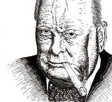 Winston Churchill by EmperorDinodude