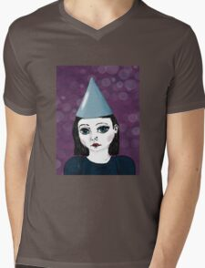 Lonely Girl's purple party Mens V-Neck T-Shirt