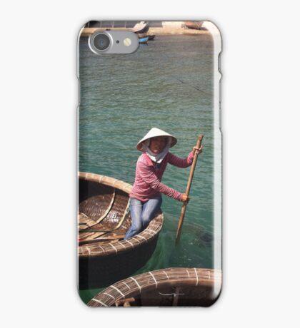LADY IN FISHING BASKET iPhone Case/Skin