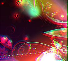 Colorful Vector Flourishes by bradyarnold