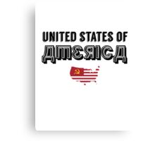 Commie Series - United States of America Canvas Print