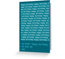 Happy Birthday - BASIC Greeting Card