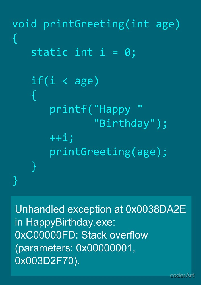 Happy Birthday - C by coderArt
