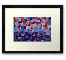 Sunset Squares Framed Print