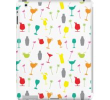 Colourful Summer Cocktails and Twizzlers Retro Pattern iPad Case/Skin