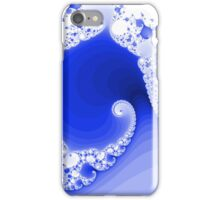 Abstract Blue Fractal Spiral iPhone Case/Skin