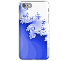 Abstract Blue Fractal Spirals iPhone Case/Skin