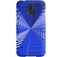 Abstract Blue Shapes Pattern Samsung Galaxy Case/Skin