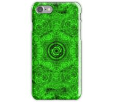 Abstract Green Circles Pattern iPhone Case/Skin