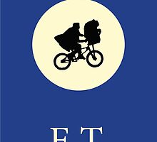 ET The Extraterrestrial Minimalist Movie Poster by itsprestonm