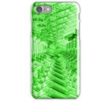 Abstract Green Shapes Pattern iPhone Case/Skin
