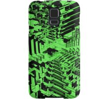 Abstract Green Shapes Pattern Samsung Galaxy Case/Skin