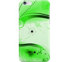 Green Vector Flourishes iPhone Case/Skin
