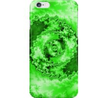 Abstract Green Radial Pattern iPhone Case/Skin