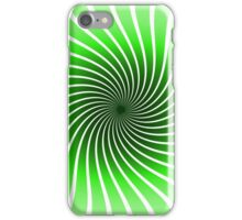 Abstract Green Spiral iPhone Case/Skin