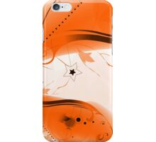 Orange Vector Flourishes iPhone Case/Skin