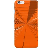 Abstract Orange Shapes Pattern iPhone Case/Skin