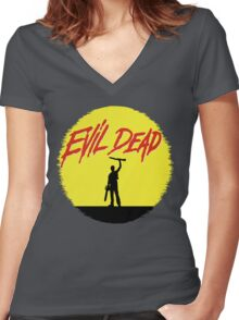 Evil Dead Women's Fitted V-Neck T-Shirt