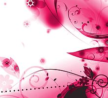 Pink Vector Flourishes by bradyarnold