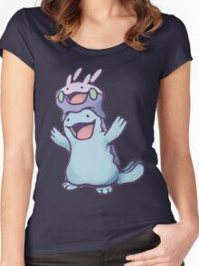 Unaware Goomy & Quagsire Women's Fitted Scoop T-Shirt