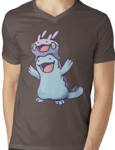 Unaware Goomy & Quagsire Mens V-Neck T-Shirt