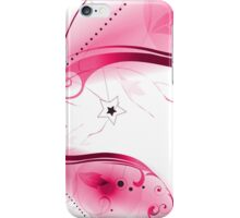 Pink Vector Flourishes iPhone Case/Skin