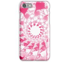 Abstract Pink Fractal Spirals iPhone Case/Skin