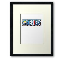 One Piece logo Framed Print