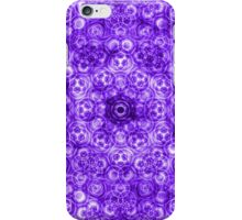 Abstract Purple Circles Pattern iPhone Case/Skin