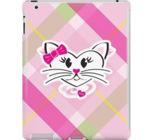 HeartKitty Plaid Love Cat iPad Case/Skin