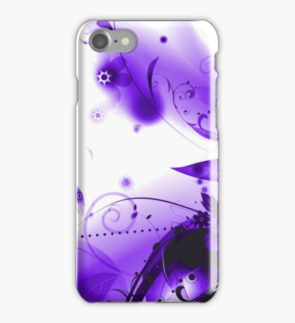 Abstract Purple Flourishes iPhone Case/Skin