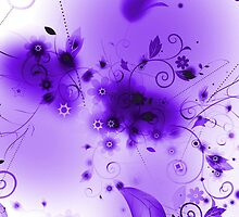 Abstract Purple Flourishes by bradyarnold