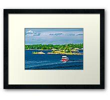 Boat on Georgian Bay Framed Print
