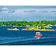 Boat on Georgian Bay Photographic Print